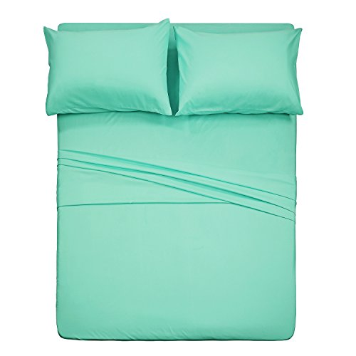 Best Season Queen Bed Sheet Set-4 Piece (Mint Color) Extra Soft Hypoallergenic Microfiber Bedding,Deep Pocket,Stain, Fade & Wrinkle Resistant