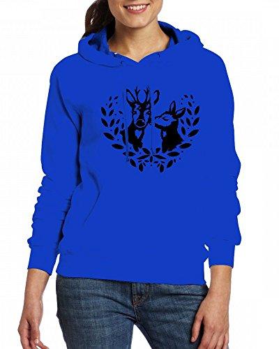 A deer and a roe buck Womens Hoodie Fleece Custom Sweartshirts