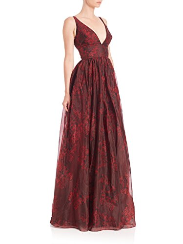 ml-monique-lhuillier-womens-sleeveless-v-neck-butterfly-print-gown-12-scarlet