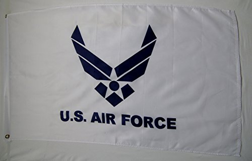 Air Force White & Blue Wing Flag 3' X 5' Indoor Outdoor Mili