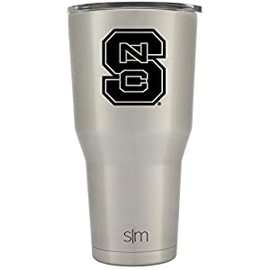 Simple Modern North Carolina State University 30oz Cruiser Tumbler - Vacuum Insulated Stainless Steel Travel Mug - NCSU, NC State Wolfpack Tailgating College Flask - Simple Stainless