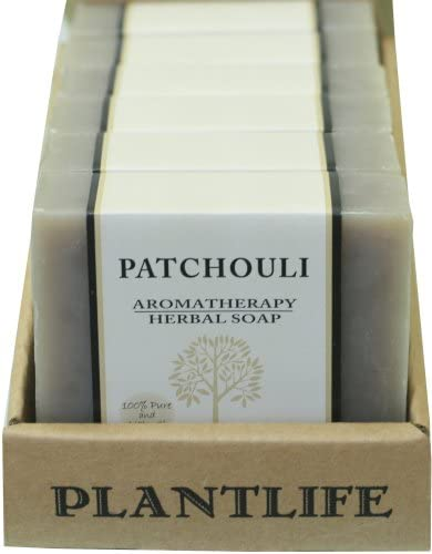 Plantlife, Patchouli Herbal Bar Soap, 100 Pure Natural Aromatherapy, Value 6 Pack, 4 Ounces Each