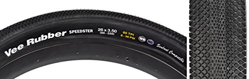 Vee Tire Rubber Speedster Tire Vee Speedster 29x2.1 Bk//bk Fold 120 psi