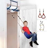 Gym1 - Deluxe Indoor Doorway Gym for Kids Playground Set - All in One Gym Set - Four Ways of Fun: Blue Indoor