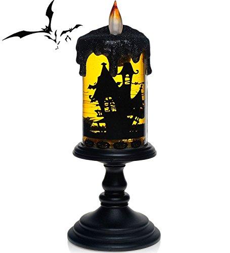 Halloween Bat Tornado LED Lighting Flameless Candle, Batt...