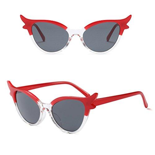 Glasses de Star Sol Eyewear UV400 para Mujer Gafas Protección Zhhlaixing Red de Marco Gafas Elegante Clásico RtSwSIYq