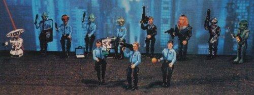 Gerry Anderson's Space Precinct 2040 Complete Set of 12 Action Figures