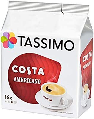 Tassimo Costa Americano Coffee Pods Case Of 5 Total 80 Pods 80 Servings