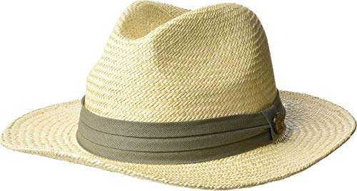 - Tommy Bahama Men's Panama Safari Hat with 3 Pleat Cotton Band, Taupe, Large/X-Large
