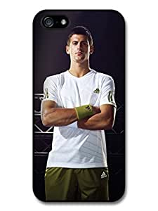 Novak Djokovic White & Green Portrait Tennis Player case for iPhone 5 5S