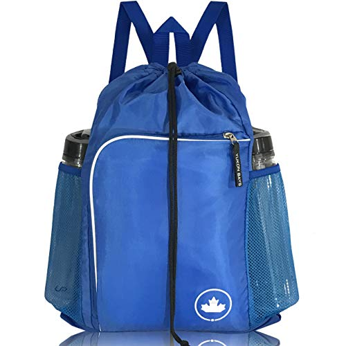 YUKON BAYS Drawstring Backpack Gym Backpack Sports Backpack Drawstring Bag ()