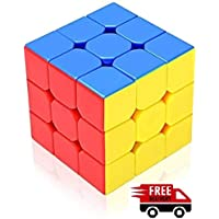 Toykart Premium Stickerless - 3X3X3 Speed Cube, Multi Color
