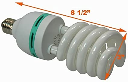 Amazoncom Hydroponic Full Spectrum CFL Grow Light Bulb 60 Watt