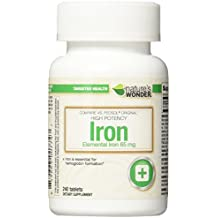 Nature's Wonder Iron Ferrous Sulfate 65mg Supplement, 240 Count