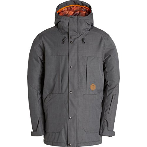 Billabong Men's North Pole Insulated Snow Jacket, Anthracite, Small (Pole Snow North)