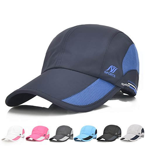 Sport Cap Summer Quick Drying Sun Hat UV Protection Outdoor Cap for Men, Women Black/Blue