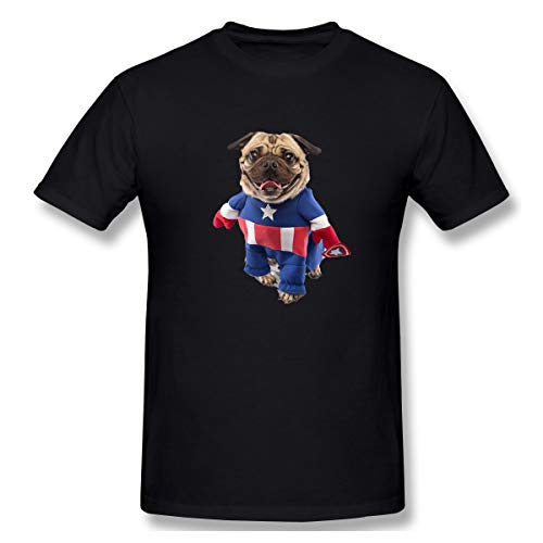PerfectMeet Men Pugs in Costumes Fashion T Shirts Black S with Short Sleeve
