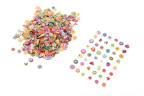 3000x3D DIY Nail Art Tips Fimo Decoration Flower Fruit Animal Slice Clay Sticker (Fruit Series)