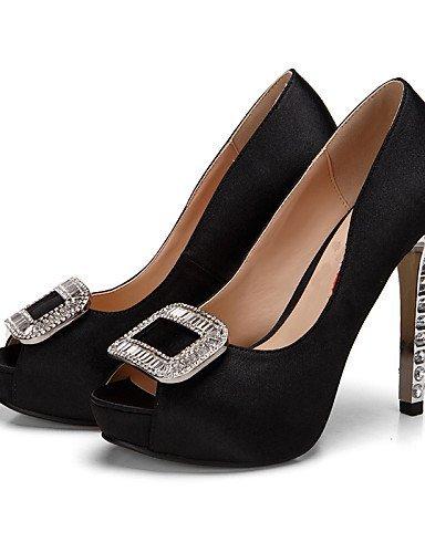 ShangYi Chaussures de mariage - Noir / Violet / Rouge - Mariage / Habillé / Soirée & Evénement - Talons / Bout Ouvert / A Plateau - Sandales - , 4in-4 3/4in-burgundy