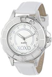 XOXO Women's XO3187 Silver Dial White Strap Watch