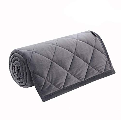Cheap MANLINAR Weighted Blanket Plush for Kids and Adults Queen Size/Full Size Heavy Blanket for Anxiety People (80 60 Minky Weighted Blanket 20) Black Friday & Cyber Monday 2019