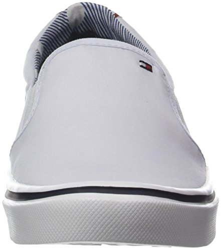 Tommy white Textile Weight On Slip Sneakers Femme Blanc Basses Light 100 Hilfiger xCvx1