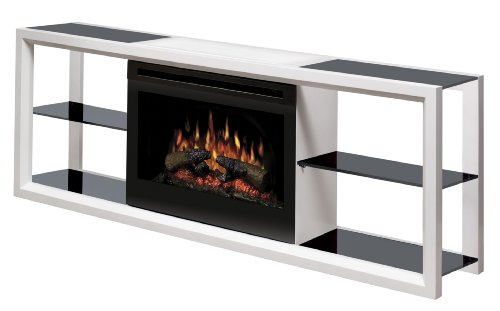 Dimplex Novara Media Console with 25 Inch Electric Firebox, White, SAPHL-300-W