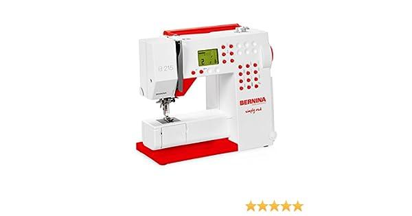 Bernina 215 Máquina de coser edición especial Simply Red: Amazon ...