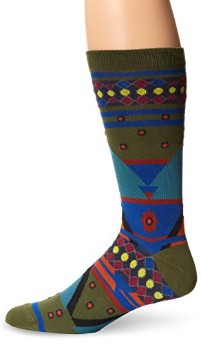 Ozone Men's Seljuk Triangles Sock, Fougere, One Size