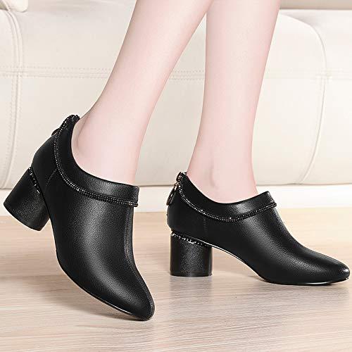 Moda Alto Otoño Yukun Con Gruesa Black Tacón De En Tacones Para Individuales Zapatillas Mujer Zapatos 8xxBUwtg