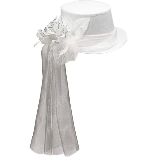 Forum Novelties 70826 Ghostly Rose Top Hat Party Supplies, One Size