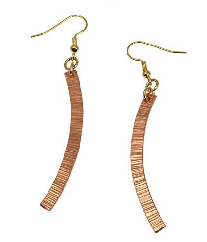 - Chased Copper Drop Earrings By John S Brana Handmade Jewelry Durable Copper Earrings