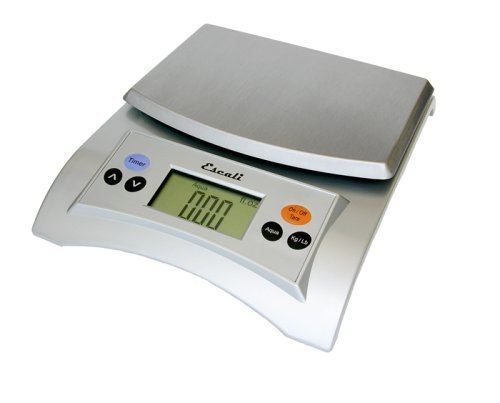 Escali A115S Aqua Digital Scale Liquid Measuring Scale 11 Lb / 5 Kg, Silver Grey by Escali