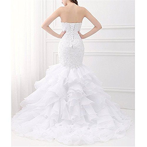 kailiya Bridal Sweetheart Mermaid Bridal Gown Plus Size Wedding Dresses for  Bride