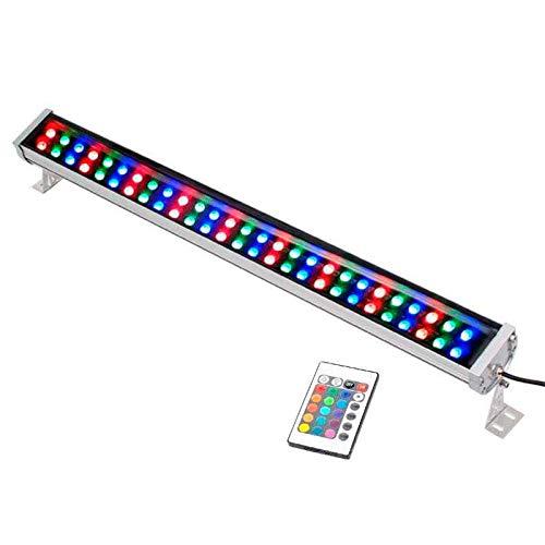 Proyector LED lineal doble, RGB-IR, 72W, 220V, 1m, RGB: Amazon.es ...