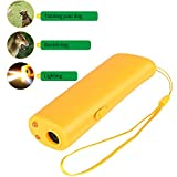 ONSON Ultrasonic Dog Repeller and Trainer Device 3 in 1 LED Pet Anti Barking Stop Bark Handheld (Dog Repeller)