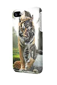 ip50357 tiger machinery mechanical Glossy Case Cover For Iphone 5/5S by ruishername