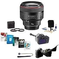 Canon EF 85mm f/1.2L II USM AutoFocus Lens Kit, USA - Bundle with 72mm Filter Kit, Lens Cap Leash, Cleaning Kit, FocusShifter DSLR Follow Focus & Rack Focus, Flex Lens Shade, Pro Software Package