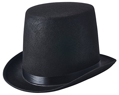 Black Felt Top Hat Party Dress Up Costume Accessory Halloween Cosplay