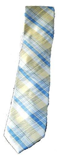Nautica Striped Tie (Nautica Mens Classic Striped Plaid Neck Tie Yellow Blue Grey)