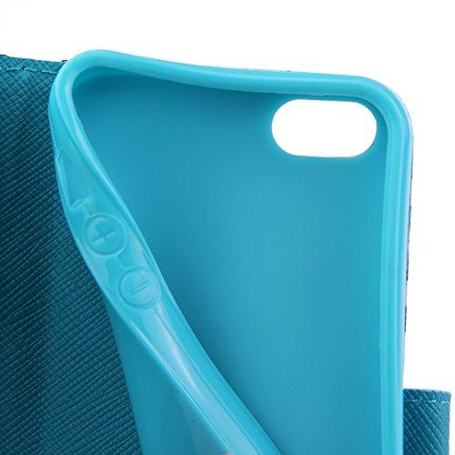 Funda para iPhone 6 6s, Flip funda de cuero PU para iPhone 6 6s, iPhone 6 6s Leather Wallet Case Cover Skin Shell Carcasa Funda, Ukayfe Cubierta de la caja Funda protectora de cuero caso del soporte b Zapatos de tacón alto