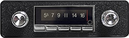 1968-1985 Volkswagen Bug, Beetle 300 watt USA-740 AM FM Car Stereo/Radio with built-in Bluetooth, AUX Inputs, Color Change LCD Digital Display