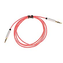 Dovewill 1.2m Replacement Audio Upgrade Cable Wire For AKG Y40 Y45 Y50 Y55 Over-Ear On-Ear Overhead Headphone - red, 1.2m