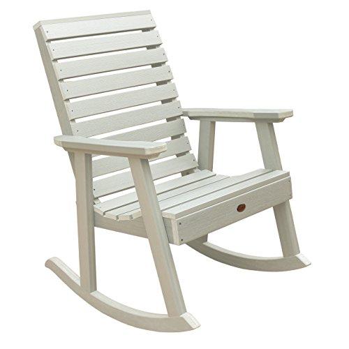 (Highwood AD-RKCH2-WAE Weatherly Rocking Chair, Whitewash)