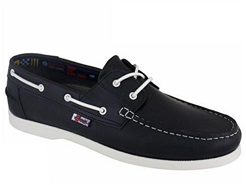 Beppi Chaussures Bateau / Mocassins Homme Bleu Marine / Blanc