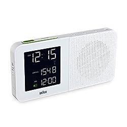 Braun Digital AM/FM Radio Alarm Clock - BNC-10 - White with AC Adaptor