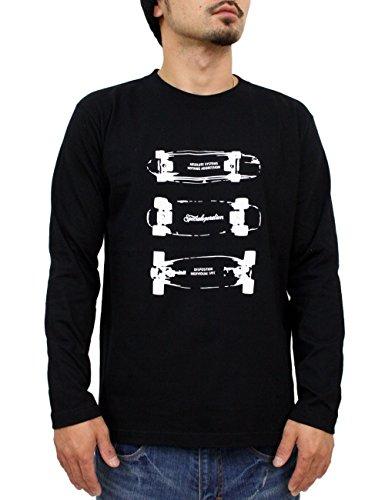 チチカカ湖止まる全能(アスナディスペック) ASNADISPEC ロンt tシャツ メンズ 大きいサイズ ティシャツ 長袖Tシャツ オリジナル スケボー ロゴ logo ストリート 柄 ブランド プリント t-シャツ aslt2226