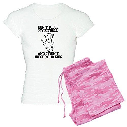 CafePress - Pitbull Women's Light Pajamas - Womens Novelty Cotton Pajama Set, Comfortable PJ Sleepwear - Bulls Pajamas Women