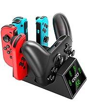 Chargeur Dock pour Nintendo Switch Manette Joy-Con, OIVO 5 en 1 Base de Chargement avec indicateurs LED, Station de Recharge Joy-Con avec USB Type C