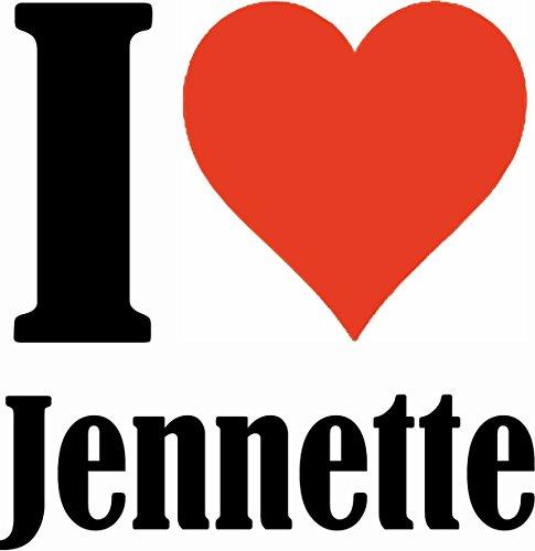 """Handyhülle iPhone 4 / 4S """"I Love Jennette"""" Hardcase Schutzhülle Handycover Smart Cover für Apple iPhone … in Weiß … Schlank und schön, das ist unser HardCase. Das Case wird mit einem Klick auf deinem"""